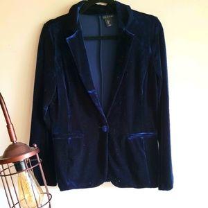 Aritzia !!NWOT!!  blue velvet blazer 💋